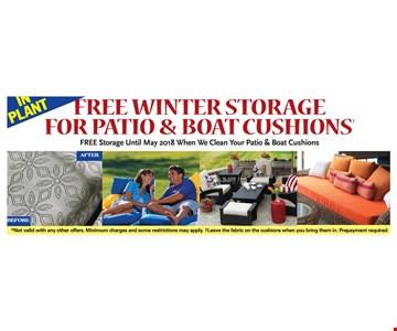 Free Winter Storage