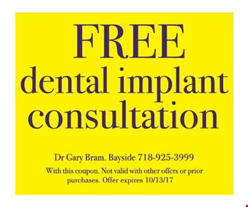 Free Dental Implant Consultation.