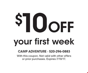 $10 Off your first week. With this coupon. Not valid with other offers or prior purchases. Expires 7/19/17. Go to LocalFlavor.com for more coupons.