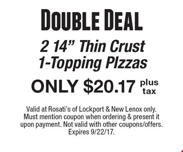 Double Deal: ONLY $20.17 2 14
