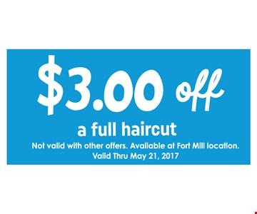 $3 Off a Full Haircut