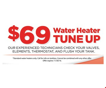 $69 Water Heater Tune Up