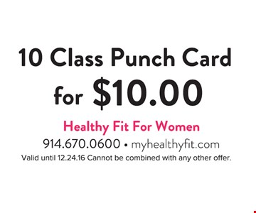 10 Class Punch Card for $10
