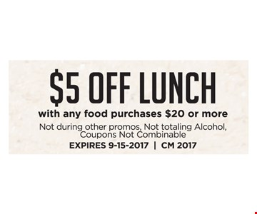 $5 OFF Lunch