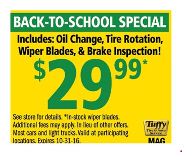 $29.99 back to school special