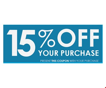 15% off your purchase