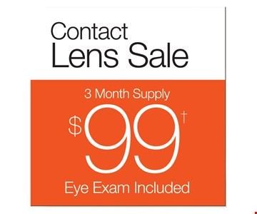 $99 contact lens sale
