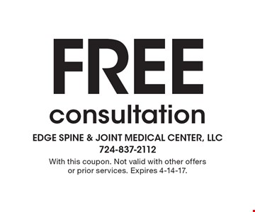 FREE consultation. With this coupon. Not valid with other offers or prior services. Expires 4-14-17.