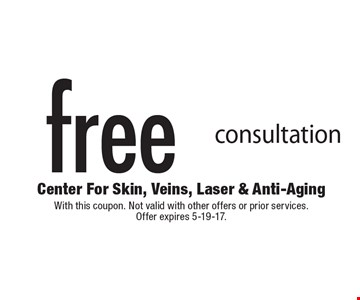 Free consultation. With this coupon. Not valid with other offers or prior services. Offer expires 5-19-17.