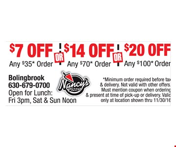 $7, $14 or $20 Off