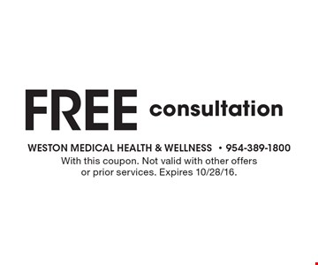 Free consultation. With this coupon. Not valid with other offers or prior services. Expires 10/28/16.