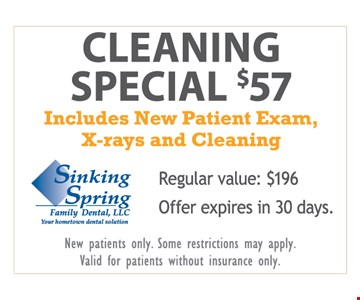 $57 New Patient Cleaning Special