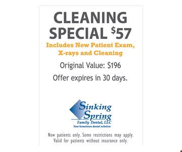 $57 Cleaning Special