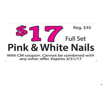 $17 Pink & White Nails
