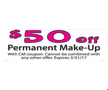 $50 Off Permanent Make-Up