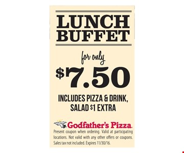 Lunch Buffet for only $7.50