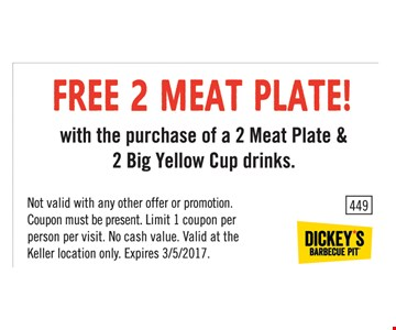 Free 2 meat plate