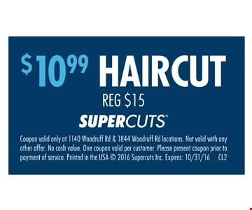 $10.99 haircut