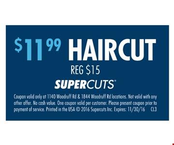 $11.99 haircut