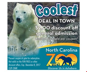 $2 discount off general admission