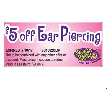 $5 Off Ear Piercing