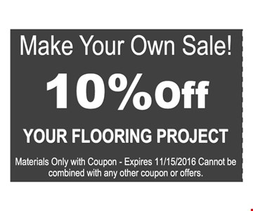 10% off your flooring project
