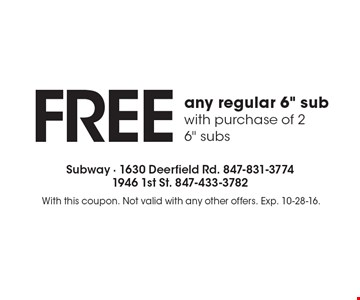 FREE any regular 6