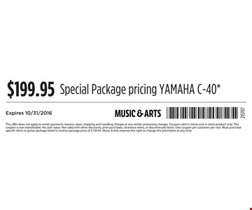 $199.95 Special Package Pricing