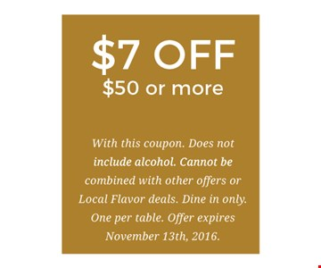 $7 Off Purchase Of $50 Or More
