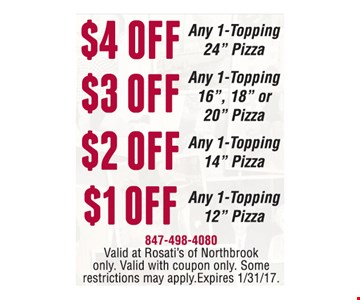 $4 any 1 topping 24