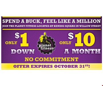 Only $1 Down Only $10 A Month No Commitment