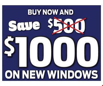Save $1000 On New Windows