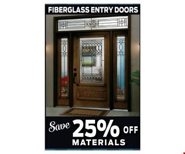 Save 25% Off Fiberglass Entry Doors Materials