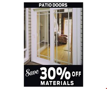 30% off Materials