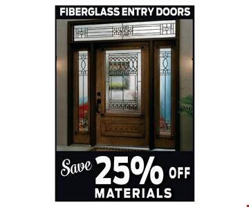 25% off Materials