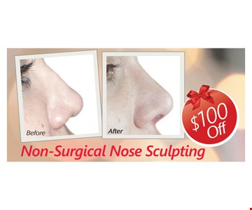 $100 Off Non-Surgical Nose Sculpting