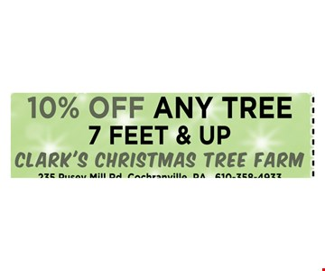 10% off any tree 7 feet and up
