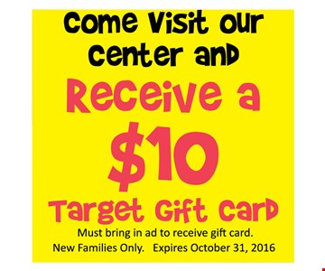 Receive a $10 Target gift card