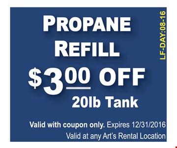 $3 off 20lb tank propane refill