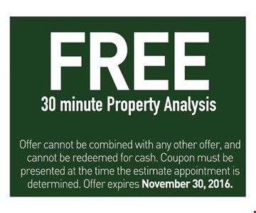 Free 30 minute property analysis