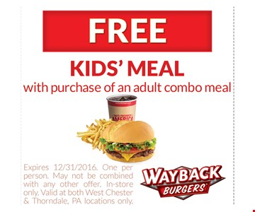 Free kid's meal