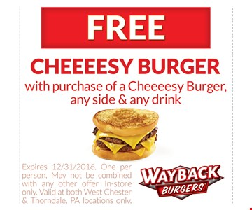 Free cheeeesy burger