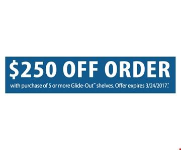 $250 off order