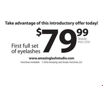 Take advantage of this introductory offer today! $79.99 First full set of eyelashes. Regular price $250. www.amazinglashstudio.com. Franchises Available. 2016 Amazing Lash Studio Franchise, LLC