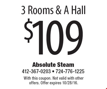 $1093 Rooms & A Hall. With this coupon. Not valid with other offers. Offer expires 10/28/16.