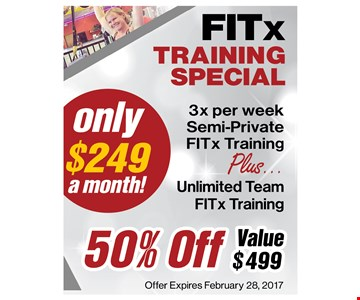 Training special only $249 a month