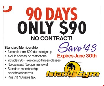 90 Days Only $90 No Contract!