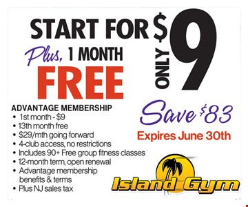 Start For $9 Plus 1 Month Free
