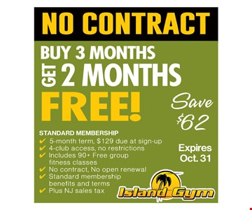 No Contract. Buy 3 Months, Get 2 Months Free!