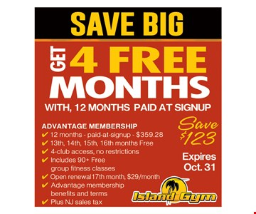 Save Big. Get 4 Months Free With 12 Months Paid At SIgnup.